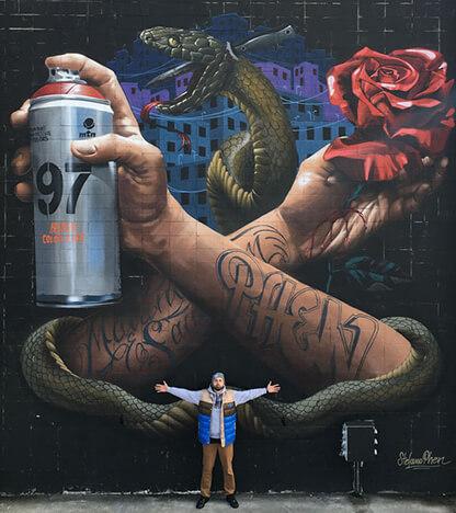 Stefano Phen - Street art - Wasaa - Urban Week